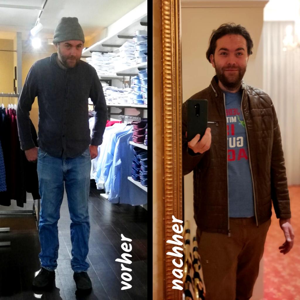 Vergleich vorher nachher Modewelt Rossmann